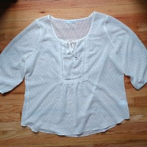Maurices 2XL Sheer Blouse